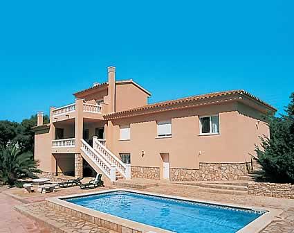 Villa rosa del vents villa avec piscine amettla de mar - Villa barcelone avec piscine ...